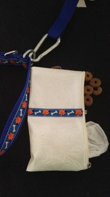 Pouch for plastic bags and treats